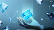 创意未来智能手机方块科技海报设计