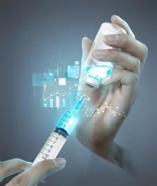 国外未来医学打针海报素材设计