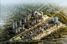城市综合体设计效果图之鸟瞰效果