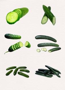绿色蔬菜水果黄瓜素材