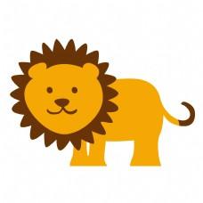 卡通矢量儿童画狮子