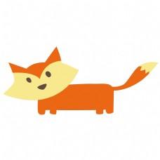 卡通矢量儿童画狐狸免抠