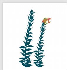 手绘卡通植物