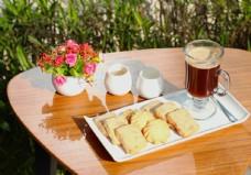 曲奇饼干配咖啡套餐