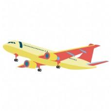 矢量卡通在空中飞行的客机