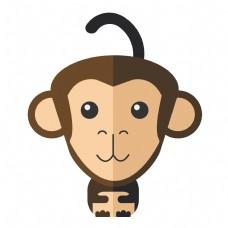 可爱Q版猴子免抠