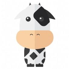 可爱Q版奶牛免抠