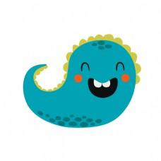 卡通微笑的鱼矢量素材