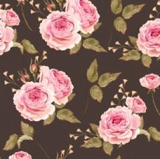 淡彩花卉图案