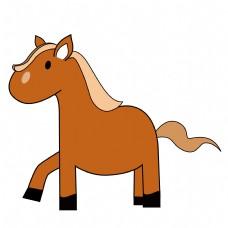 矢量卡通儿童画小马