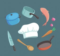 10款创意厨房元素矢量素材