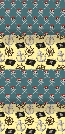 海盗船锚海盗旗