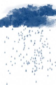 大雨滂沱乌云密布的天气