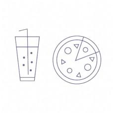 披萨汽水简单素材