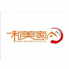 和美家商务宾馆 LOGO设计