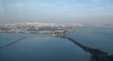 蓝色 水 水面 大 滇池 俯视