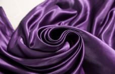 紫色丝绸面料局部细节高清大图