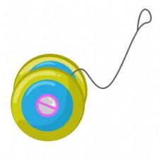 卡通矢量儿童玩具悠悠球
