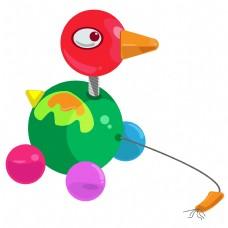 儿童玩具小鸡小车