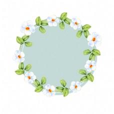 浪漫植物边框装饰素材
