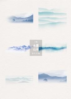 水墨山水中国风素材