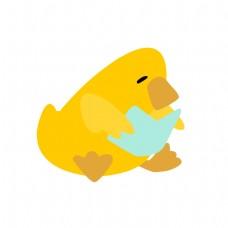 爱看书的鸭子矢量素材