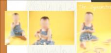 黄色儿童相册模板