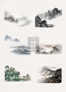 水墨山水中国风图片素材