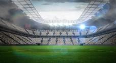 足球 球场 高清大图海报素材