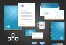 办公用品 VI系统 信封 信纸