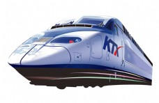 手绘和谐号列车元素