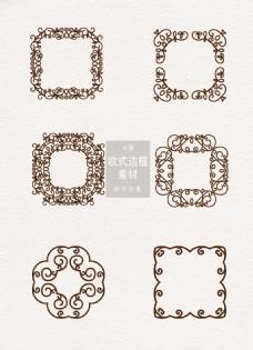 欧式边框素材花纹简约ai矢量元素