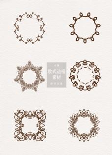 欧式边框花纹ai矢量元素素材