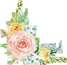 彩繪花卉花束