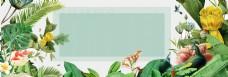 绿色植物清新天猫电商banner背景
