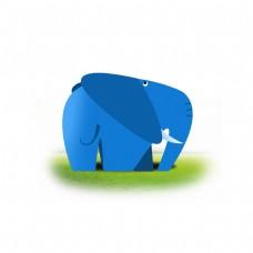 六一儿童节鼠绘卡通可爱小动物大象