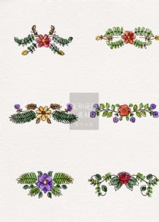 花朵花和花瓣装饰ai矢量元素素