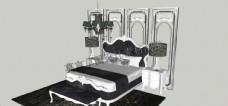 草图大师法式卧室家具软装护素材