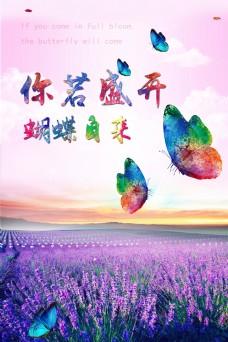 你若盛开蝴蝶自来海报