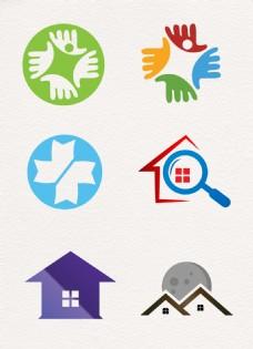 彩色简约房屋图标