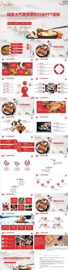精美大气美食餐饮行业PPT模板