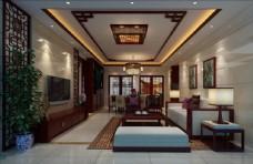 新中式家装客厅效果图
