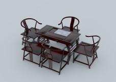 雅正茶桌3d模型设计模板