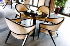 新中式售樓處談判桌椅