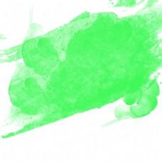绿色唯美水彩效果矢量素材