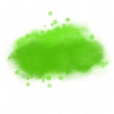 绿色唯美水彩效果元素