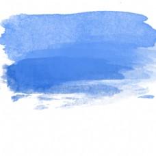 蓝色水彩痕迹效果元素