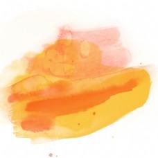 黄色水彩晕染效果元素