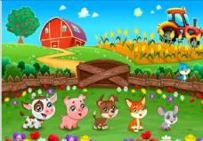 农场动物插画