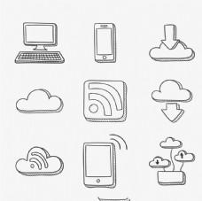 互联网联络图标